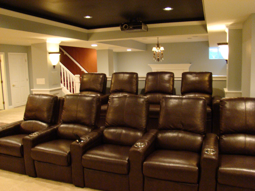 Home Theater Design by The Finished Basement