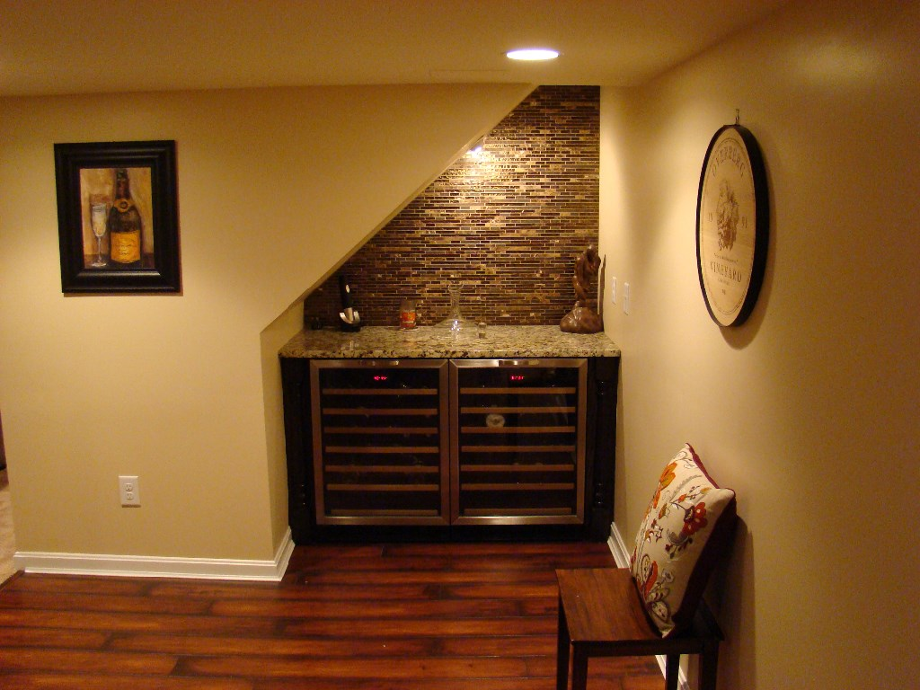 Custom built-in under staircase