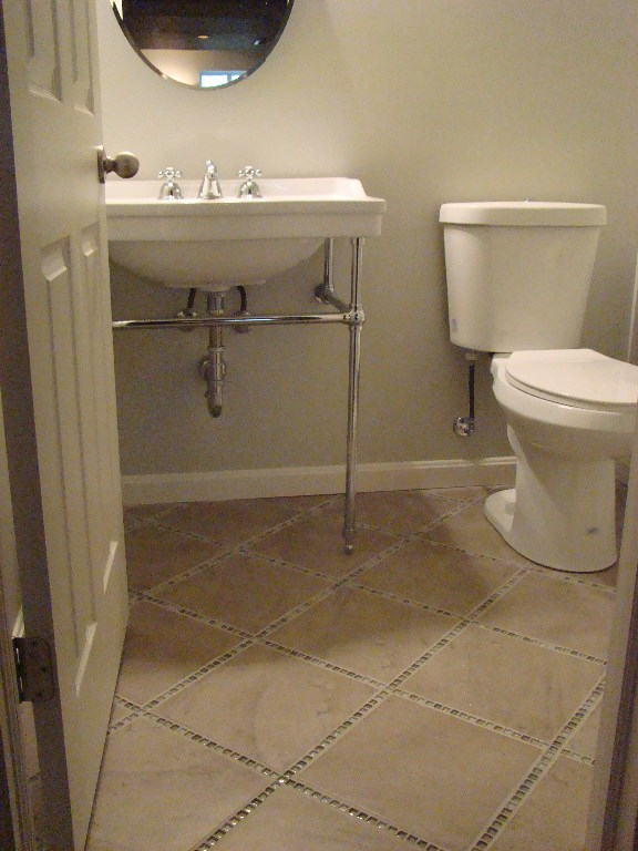 Custom tile in bathroom