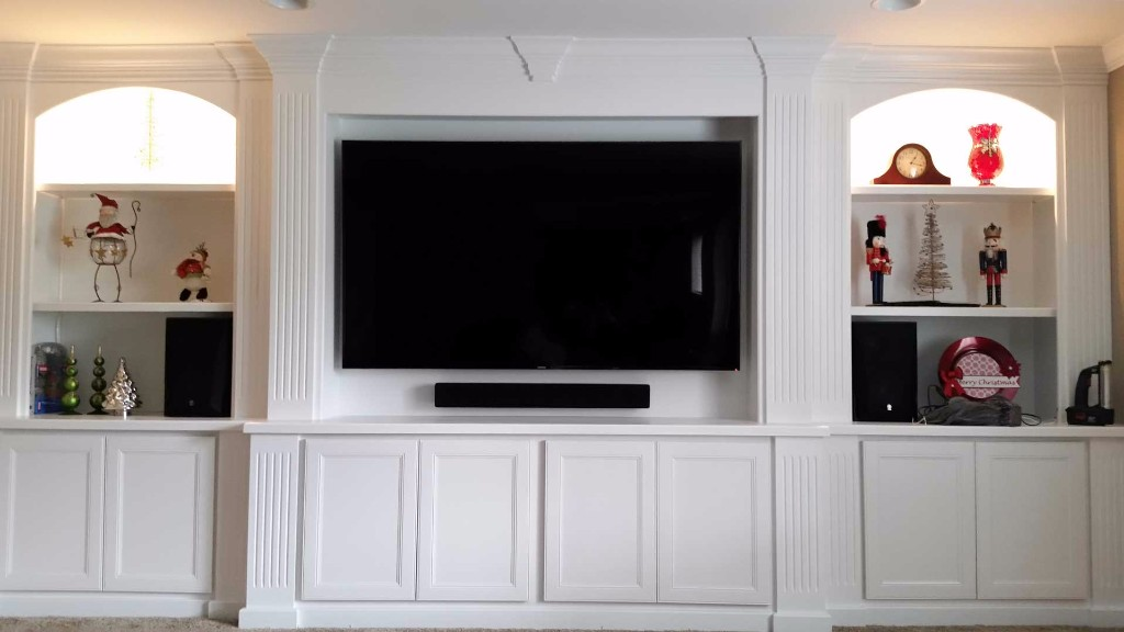 Custom basement built-in home theater