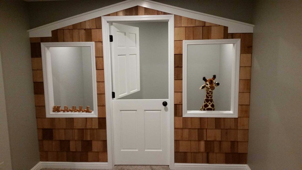 Basement nook for children's play