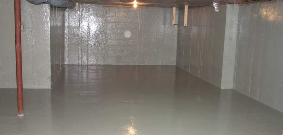 Basement Waterproofing from the Finished Basement